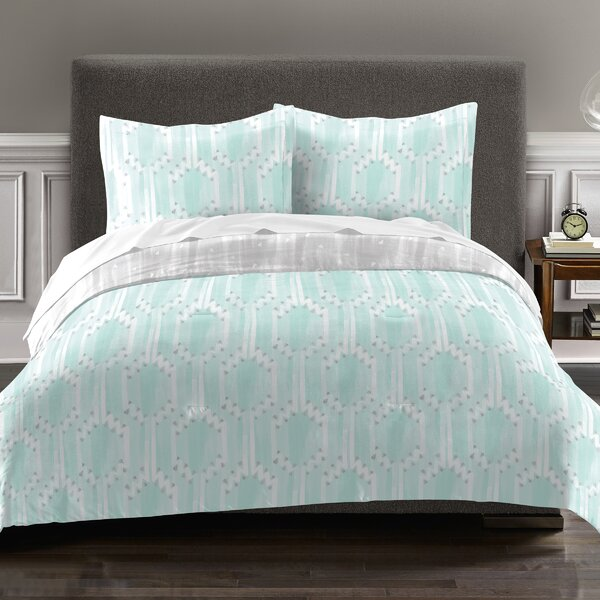 Earl 100% Cotton 2 Piece Reversible Comforter Set by Ivy Bronx